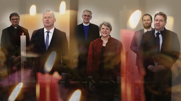 Ökumenische Weihnachtsandacht der Kirchen und der Politk